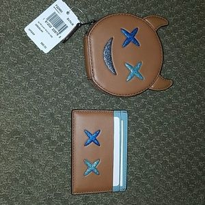 Brand new with tag coach coin case and card case
